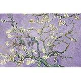 Vincent Van Gogh Amandier en fleurs (fond violet) Poster grand format 91.5 x 61 cm