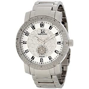 Joshua & Sons Men's JS-20-SS Stainless Steel Diamond Bracelet Watch