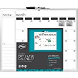 Board Dudes 16 x 20 Inches Aluminum Framed Magnetic Dry-Erase Calendar, Includes 1 Marker and 2 Magnets (CYG21)