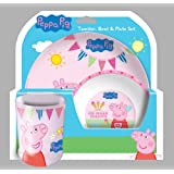 Spearmark Peppa Pig Tea Party Tumbler Bowl Plate Set