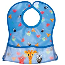 Sassy Clean Cuisine Pocketed Feeding Bib, Boy