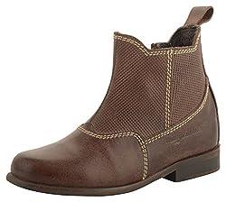 willywinkies Kids Dark Brown Leather Chelsea Boots - 27