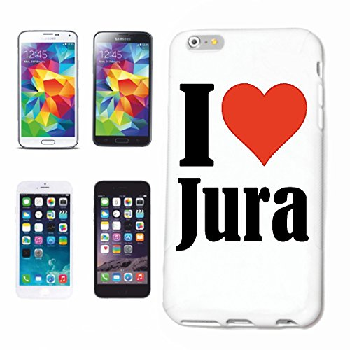 "Handyhülle iPhone 6 ""I Love Jura"" Hardcase Schutzhülle Handycover Smart Cover für Apple iPhone ... in Weiß ... Schlank und schön, das ist unser HardCase. Das Case wird mit einem Klick auf deinem Smartphone befestigt"