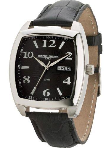 Jorg Gray JG1320-14 - Reloj analógico de cuarzo unisex con correa de acero inoxidable, color negro