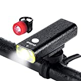 LED Bike Lights Front and Back, USB Rechargeable Bike Light Set, 5 Light Modes 600 Lumens Super Bright Bicycle Lights, Bike Headlight, Waterproof, Free Tail Light Included