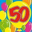20Stk. Servietten Zahl 50 Geburtstag Jubil�um