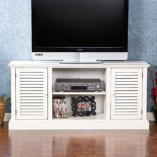 Antebellum White TV Console