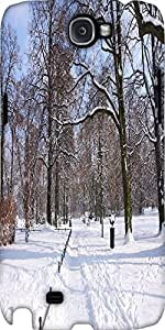 Snoogg Winter In The Park Designer Protective Back Case Cover For Samsung Gal...