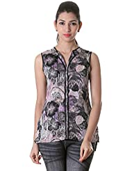 Stylish Printed Polyster Trendy Top From ESTYLe