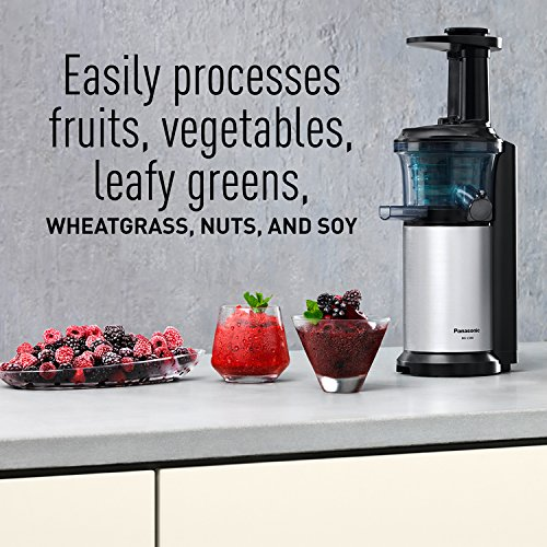 Panasonic Slow Juicer Rpm : Panasonic MJ-L500 Slow Juicer with Frozen Treat Attachment, - Import It All