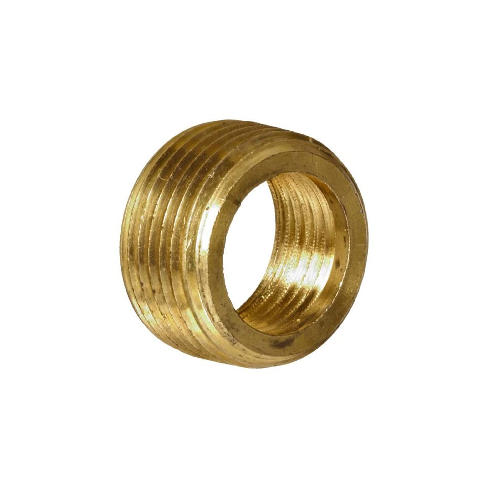 Anderson Metals Brass Pipe Fitting, Face Bushing, 3/8 Male Pipe x 1/4 Female Pipe