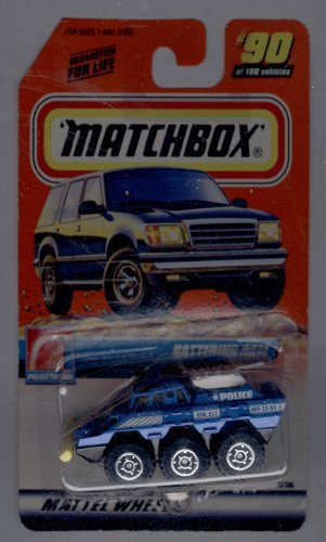 Matchbox 1999-90 of 100 Series 18 Police Patrol Battering RAM 1:64 Scale - 1