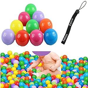 Estone 100pcs Colorful Ball Fun Ball Soft Plastic Ocean Ball Baby Kid Toy Swim Pit Toy