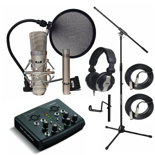 Cad Gxl2200Sp Recording Pack Mh110 Cables Stand M-Audio M-Track Usb Interface