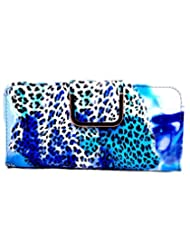 Bagaholics Wallet Clutch Ladies Money Purse With Card Slots For Women (Blue)