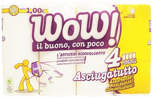 Wow - Asciugatutto, 2 Veli, 4 Rotoli