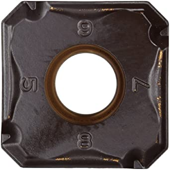 "Sandvik Coromant COROMILL Carbide Milling Insert, Wiper, 345N Style, Square, GC4230 Grade, Multi-Layer Coating, 345N1305EPW8,0.22"" Thick, 0.039"" Corner Radius (Pack of 10)"