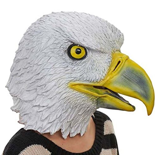 Mememall Bald Eagle Latex Mask Bird 4th July Halloween Costume Prop Patriotic