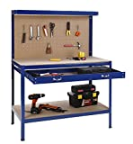 51yJttvrrYL. SL160  - BEST BUY #1 VonHaus Steel Boltless Workbench Worktable Workshop Station with Drawer and Pegboard + FREE 12 Pegs Massive Capacity 230 kg (120L x 60W x 155H cm): Free 2 Year Warranty