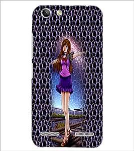 PrintDhaba Cute Girl D-4998 Back Case Cover for LENOVO VIBE K5 (Multi-Coloured)