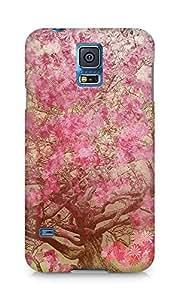 Amez designer printed 3d premium high quality back case cover for Samsung Galaxy S5 (Flower spring art illust happy)