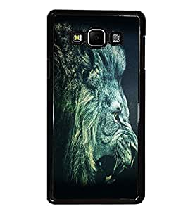 PrintDhaba Lion Roar D-1154 Back Case Cover for SAMSUNG GALAXY A7 (Multi-Coloured)