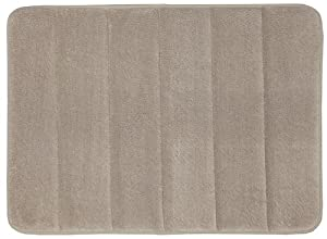 Townhouse Rugs Memory Foam Bath Rug, 17 by 24-Inch, Taupe