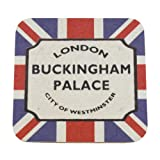 London Street Sign Souvenir Coaster - Buckingham Palace