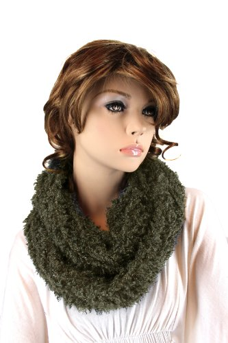 Fashion Dimensions Infinity Eskimo Scarf In Grey