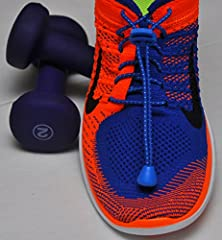Shoe Laces No Tie Colored and Reflective Elastic Shoe Laces for Men, Women and Kids Tennis Shoes and Sneakers With a High Quality Safety Shoelace Lock Fastening System. Ideal for Walking, Running, Triathlon and Cycling in 8 Vibrant Colors-Royal Blue-48 in