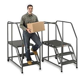 EGA Mobile Steel Work Platforms - Gray: Material Handling Equipment