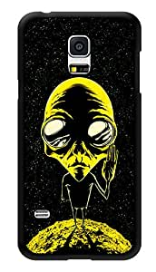 """Humor Gang Alien Says Peace - Yellow Printed Designer Mobile Back Cover For """"Samsung Galaxy S5"""" (3D, Glossy, Premium Quality Snap On Case)"""