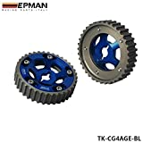 EPMAN Racing Adjustable Cam Gears For 84-87 Toyota Corolla 4AG/E 4AGE 16V 1.6L (Blue, Pack Of 2) (Color: Blue)