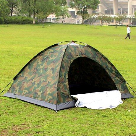 ComUnited 迷彩テント 1人用 アウトドア ビーチ 登山トレーニング サバイバルゲーム