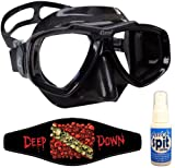 Cressi Focus Scuba Dive Mask, with Mask Strap & Antifog, All Black