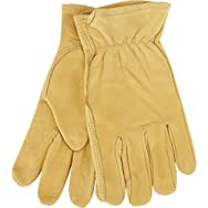 Top Grain Cowhide Leather Work Glove-MED COWHIDE GRAIN GLOVE