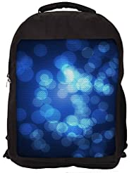 Snoogg Abstract Wallpapers Circle Backpack Rucksack School Travel Unisex Casual Canvas Bag Bookbag Satchel