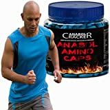 Anabol Amino Caps, 350 Kapseln, Aminosäuren Bcaa + Super Marken Muskel T-Shirt