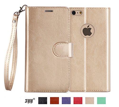 iPhone 7 Hülle,iPhone 7,Fyy® [Spritze Serie] Hochwertige Kunstleder Hülle für Apple iPhone 7,Gold