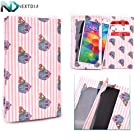 Tyvek Paper Wallet Case fits Nokia Lumia 630 Dual Sim (Pink and White Pinstripe and Cupcakes ) Universal Protective Fit + NextDIA Cable Tie