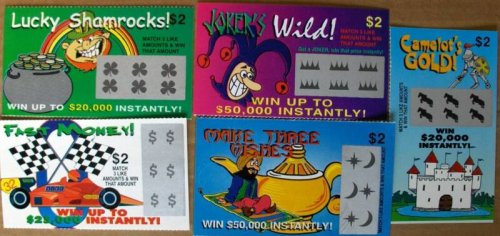 Fake Lottery Tickets-set of 100-Great gag gift from THE GAG (Lottery Tickets Scratch Off Real compare prices)