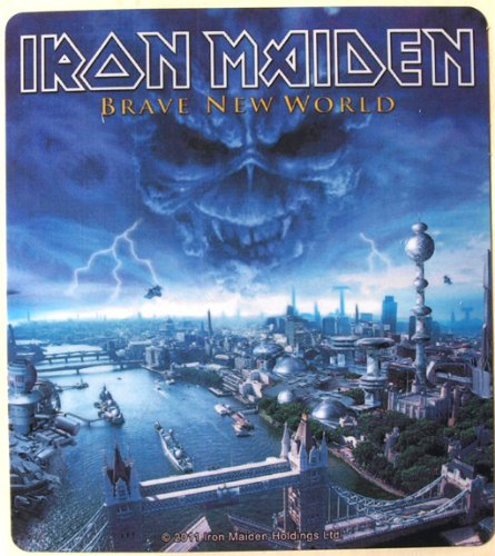 Iron Maiden adesivo Brave New World resistente alle intemperie 9,5 x 10,5 cm