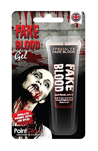 Smiffy's 46128 - Gel 10Ml Fake Blood Rosso Blister, Taglia Unica
