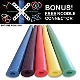 5 Pack Deluxe Wacky Swim Noodles Includes 5 Unique Colors by Oodles of Noodles TM Made in USA