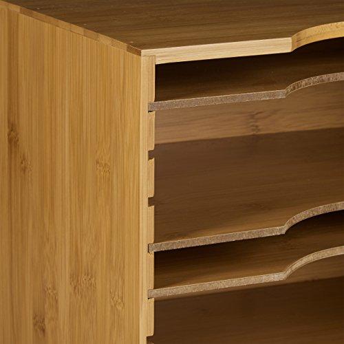 g nstig relaxdays briefablage aus bambus hbt ca 26 5 x 33 5 x 24 5 cm ablagesystem f r den. Black Bedroom Furniture Sets. Home Design Ideas