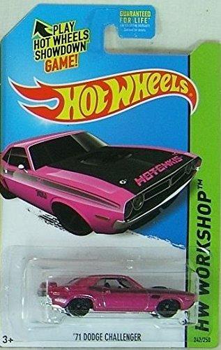 2014 Hot Wheels '71 Dodge Challenger (Pink) K-Day Kmart Exclusive