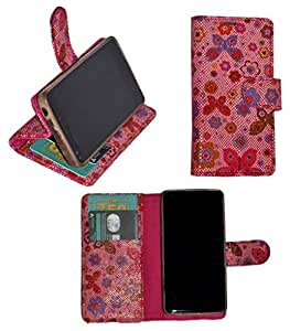 R&A Pu Leather Wallet Flip Case Cover With Card & ID Slots & Magnetic Closure For Samsung Galaxy J5