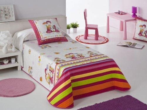 Colcha bouti Shopping - cama 105 cm - Rosa