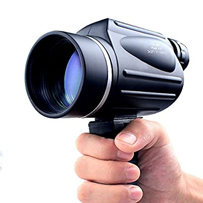 USCAMEL 13x50 Powerful Monocular, Bright and Clear Range of View, Travel and Sports Bird Watching Telescope, Black from USCAMEL