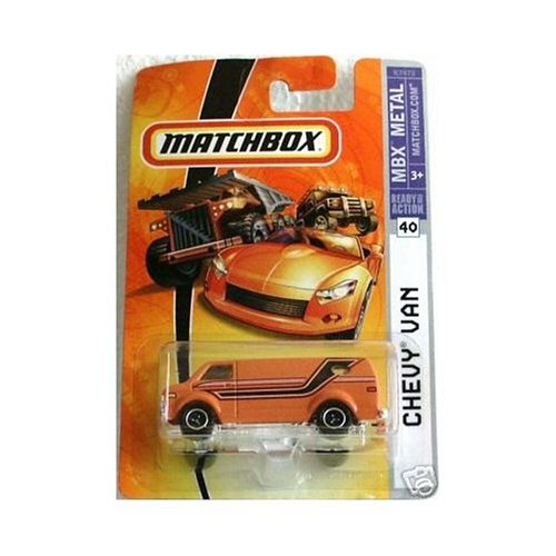 Mattel Matchbox 2007 1:64 Scale Orange Chevy Van Die Cast Car #40 by MBX Metal - 1
